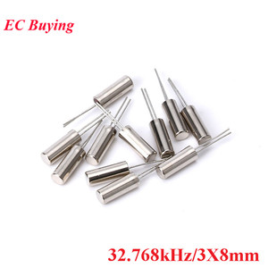 20pcs 32.768kHz 32.768 kHz 32768HZ 32.768k Hz Frequency Oscillator Crystal Cylender 3X8 mm 3*8 mm 3X8MM 3*8mm 3mmx8mm 3mm*8mm