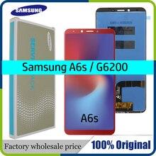 "100% orijinal 6.0 ""samsung LCD Galaxy A6s G6200 G6200F LCD yedek parça ekran Digitizer meclisi + servis paketi"