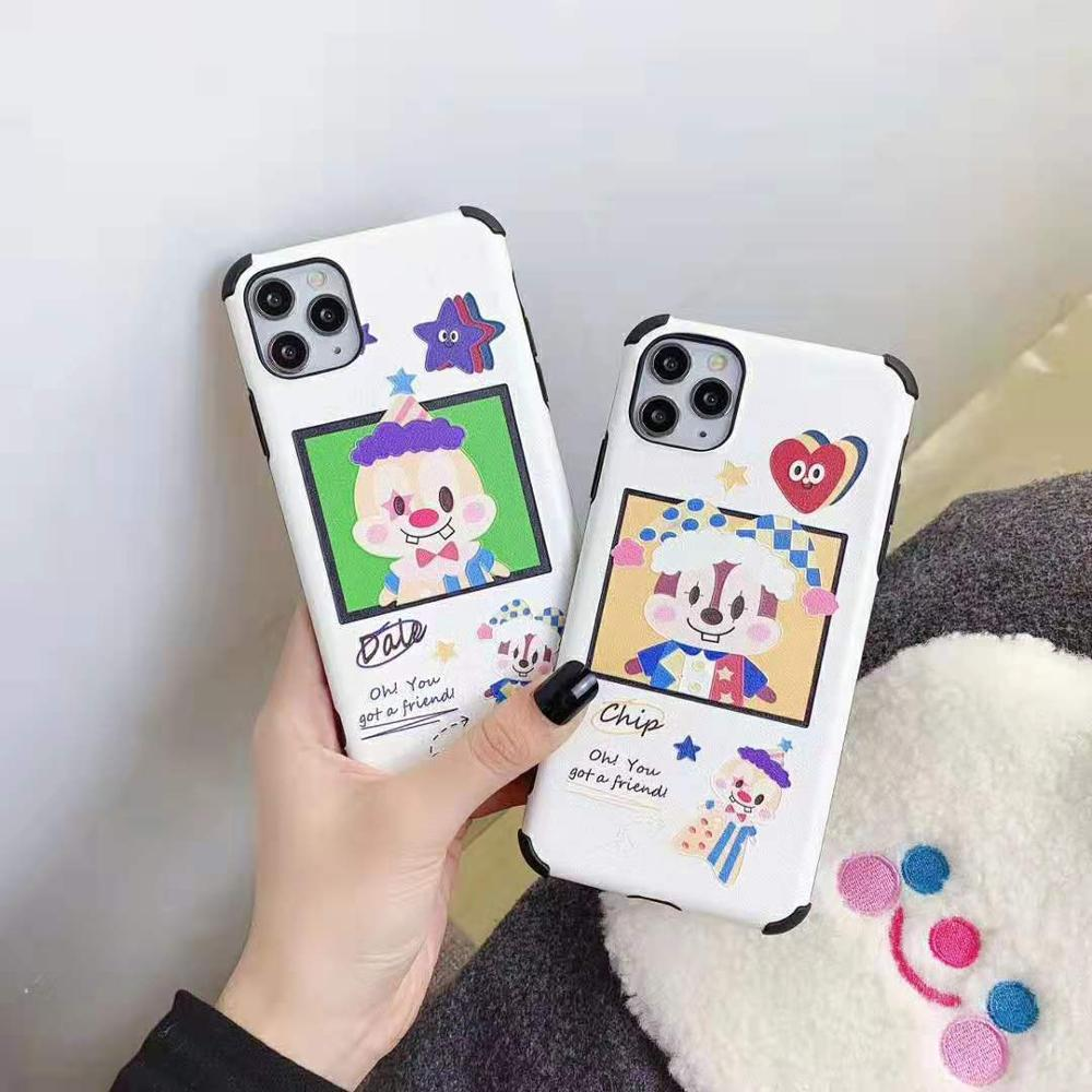 Cute Squirrel Chip N Dale Phone Case Caroon For Iphone 11 Pro Max Xs Max Xr Protective Cover Soft Silicone For Iphone 7 8 Plus Fitted Cases Aliexpress