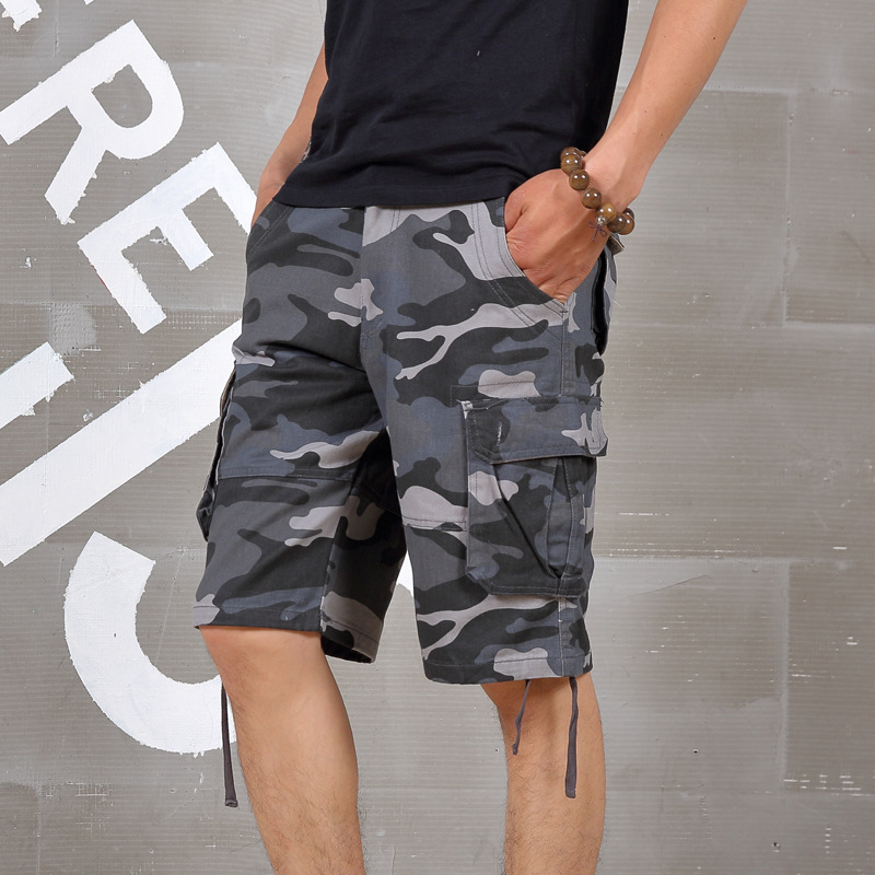 High Quality Men Summer Plus Size Casual Camouflage Large Shorts Men Loose Elastic Waist Knee Length Hiphop Short Trousers