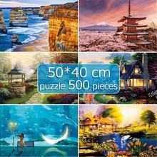 Puzzle 500 Piece 50*40 cm Paper Puzzle Game Jigsaw Puzzle Landscapes Decompression Game Adults/Kids Toy Education Home Decor