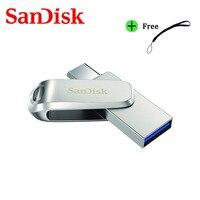SanDisk SDDDC4 Pendrive USB 3,1 tipo C pluma Dual Drive 512GB 256GB 128 32GB 64GB de Metal unidad Flash para teléfono portátil