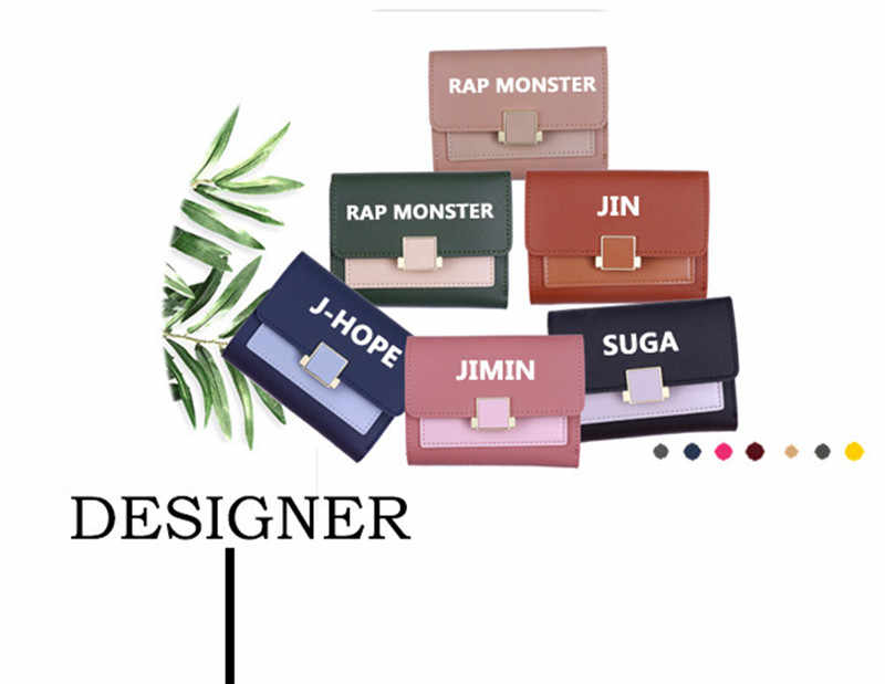 KPOP Jungkook Jimin V Suga J-hoffen Jin Rm RAP MONSTER Brieftasche Gleiche Frauen Student Brieftasche Karte Tasche PU kleine Tragbare Kurze Großhandel