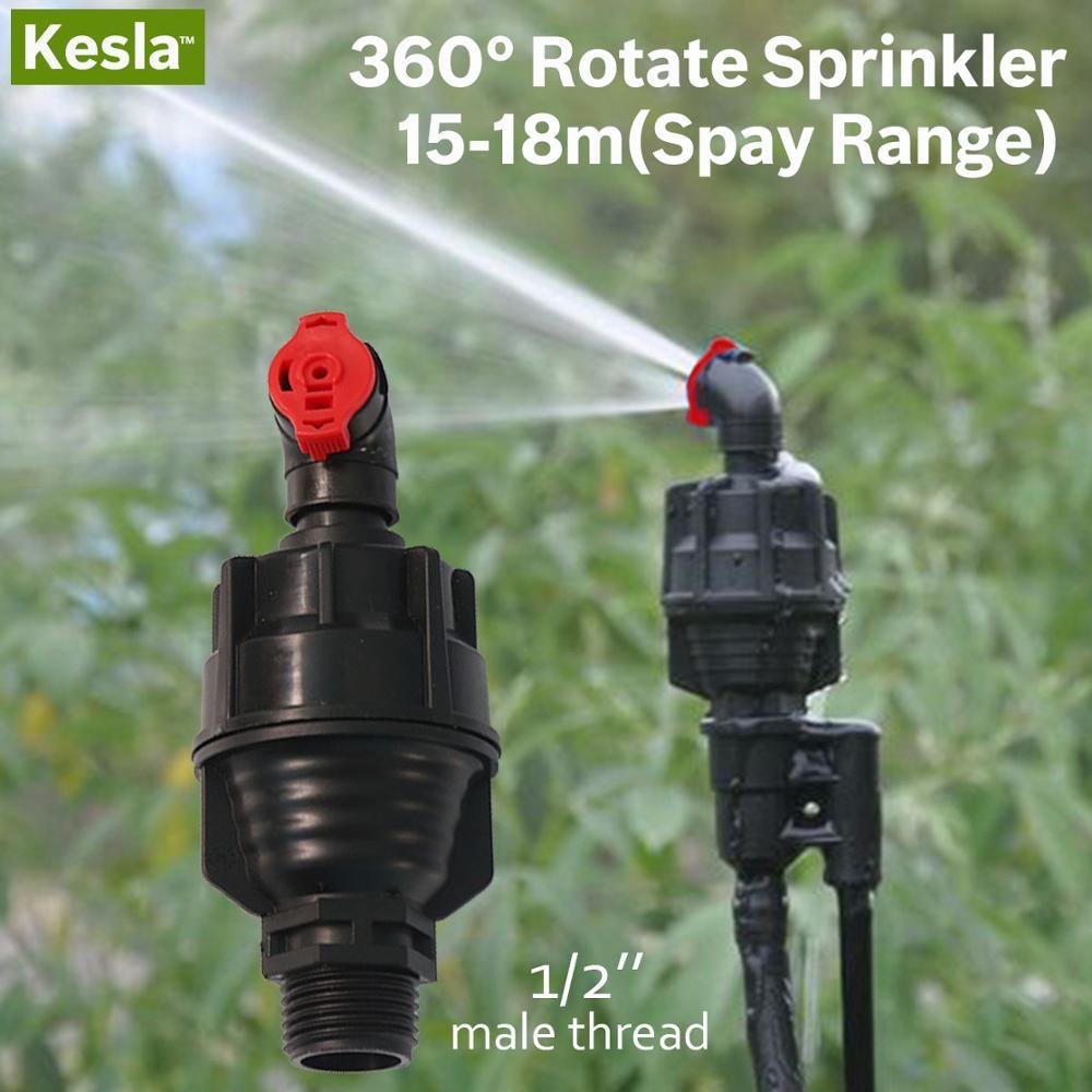 2PCS Garten Bewässerung Tropf Bewässerung Rotierenden Sprinkler 360 grad Spray Kopf 1/2 ''Männlichen Gewinde für Gewächshäuser Garten Rasen