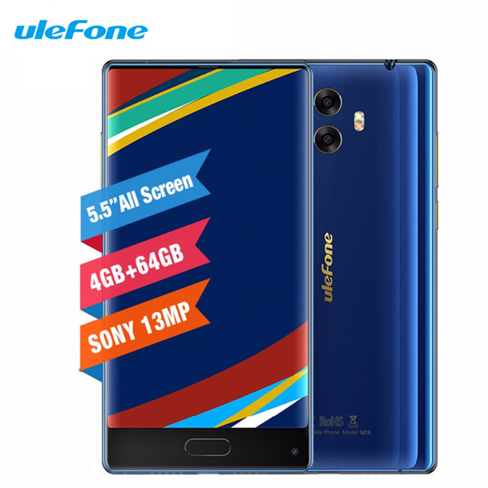Ulefone MIX 4G Beze less Smartphone 4GB 64GB MTK6750T Octa Core Dual Camera 5.5inch 13MP Android 7.0 Fingerprint Mobile Phone
