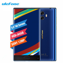 Ulefone MIX 4G Beze less Smartphone 4GB 64GB MTK6750T Octa Core Dual Camera 5.5inch 13MP Android 7.0
