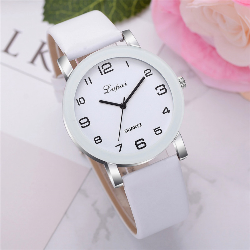 Creative Wristwatches For Women Watches Quartz Clock Leather Watch For Women Birthday Gift Relogio Feminino Relojes Mujer  #D