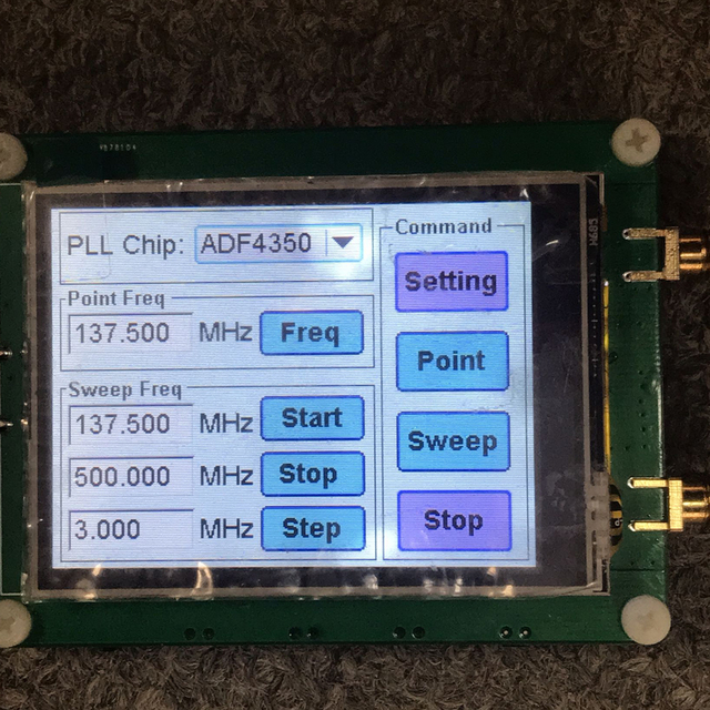 35 4400M ADF4351 ADF4350 RF signal source Signal generator wave / Point frequency sweep touch screen LCD display control