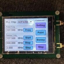 35 4400m adf4351 adf4350 rf fonte de sinal gerador de sinal onda quadrada/ponto varredura freqüência tela de toque lcd display controle