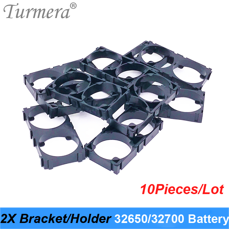 Turmera 32650 32700 2x Battery Bracket Cell Safety Anti Vibration Plastic Brackets For 32650 32700 Battery Pack 10pieces