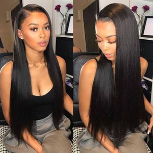 Cheap Brazilian Straight Lace Wig Human Lace Front Human Hair Wig Straight with Closure Wig Lace Frontal Wigs for Black Women(China)
