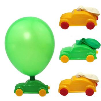 DIY Balloon Power Car Funny Toys Children Science Experiment Educational Equipment image