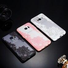 Ретро платье с кружевами и узором роз чехол для samsung Galaxy S6 S7 край S8 S9 плюс J2 J3 J5 J7 Prime 2 J4 J6 A6 A8 ПК+ Мягкий ТПУ чехол с мультипликационным рисунком
