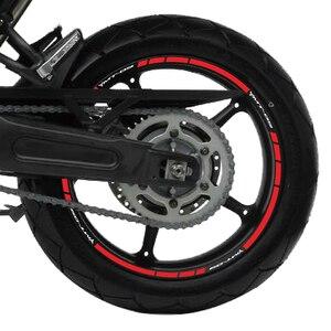 Image 4 - KSHARPSKINสะท้อนแสงล้อชุดรถจักรยานยนต์สติกเกอร์ตกแต่งขอบSuper Mucous MembraneสำหรับYamaha MT 09 Mt09 Mt 09