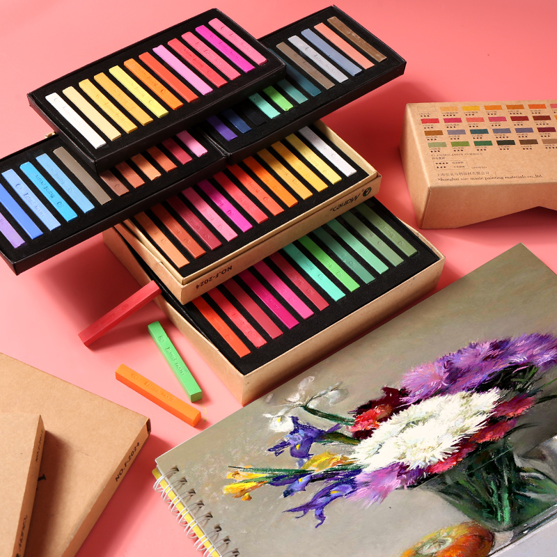 Marie 39 s 12 24 36 48 Colors Painting Crayons Soft Pastel Art Drawing Set Chalk Color Crayon Brush For Stationery Art Supplies in Crayons from Office amp School Supplies