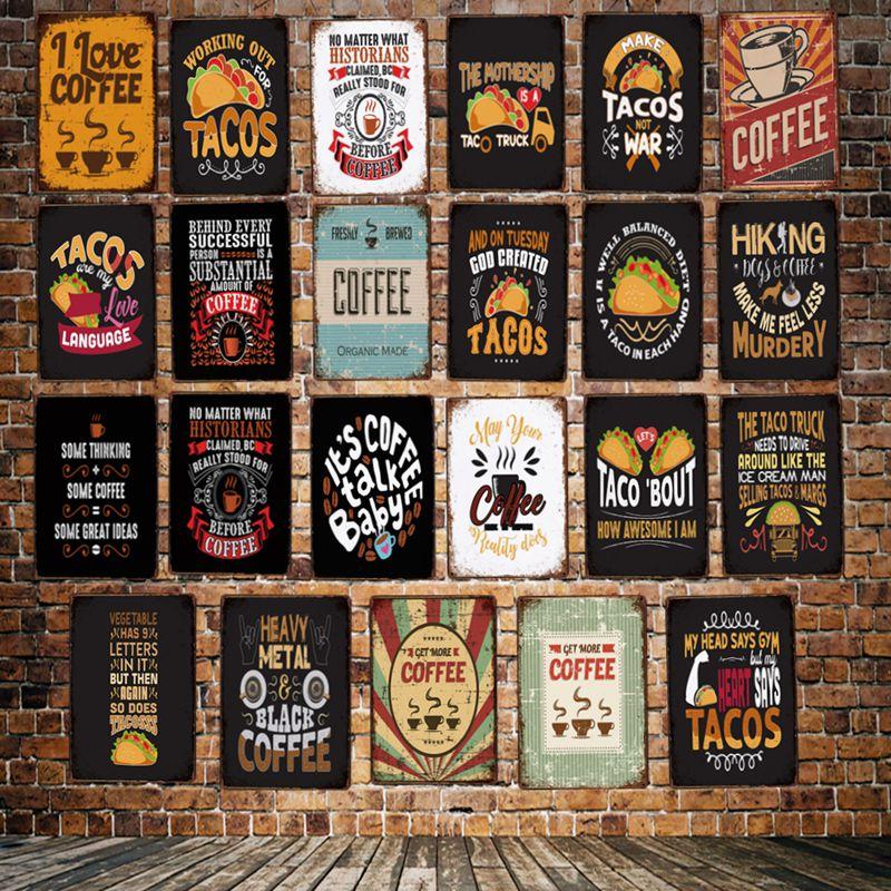 FRESH TACOS Shop Window Sticker Restaurant Cafe Display Decoration Vinyl Decal