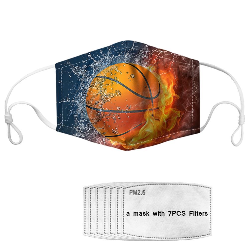 7Pcs PM2.5 Filter Gas Masks Carbon Insert Women Men Anti-dust Masks Washable Mask Reusable Face Mask Non-disposable Moth Mask