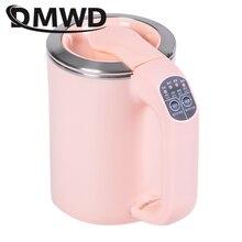 DMWD мини-Электрический чайник для подогрева воды в путешествии, каша, лапша, плита, подогреватель чашек, чайник из нержавеющей стали, котел, 110-220 В