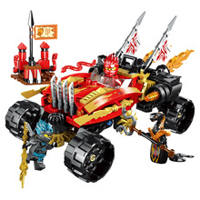 2019 NEW Ninja Katana 4x4 70675 Building Blocks Bricks Model Kids City Classic Compatible Marvel Toys bela ninjagoed jay s elemental dragon building blocks sets bricks ninja movie classic model kids toys marvel compatible legoings