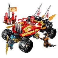 2019 NEW Ninja Series Katana 4x4 Chariot Building Blocks Bricks Model Kids City Classic Movie Marvel Compatible 70675 Toys