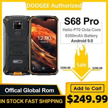 Перейти на Алиэкспресс и купить DOOGEE S68 Pro смартфон с 5,9-дюймовым дисплеем, восьмиядерным процессором Helio P70, ОЗУ 6 ГБ, ПЗУ 128 ГБ, 6300 мАч