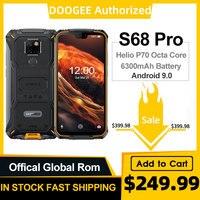 Doogee s68 pro robusto telefone helio p70 octa núcleo 6 gb 128 gb de carga sem fio ip68 à prova dnágua nfc 6300 mah 12v2a carga 5.9 polegada fhd +