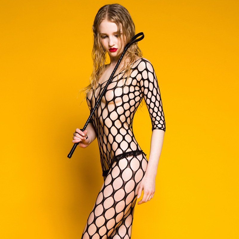 Female Black Body Stocking Lingerie Women Erotic Apparel Lingerie Sexy Hot Erotic Fishnet Bodystocking