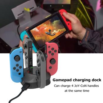 Kontrolery stacja do ładowania gry rozrywka 4 w 1 akcesoria do przełącznik do nintendo ładowarka do pada stojak tanie i dobre opinie ALLOYSEED NONE CN (pochodzenie) Brak Controller Charging Dock