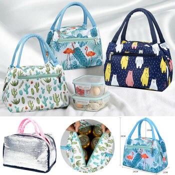 Śliczne kobiety torba na Lunch moda damska dziewczyny dzieci piknik przenośna izolowana torba na Lunch Box piknik Tote Cooler