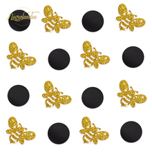 NICROLANDEE Bumble Bee Party Decoration - Gold Glitter Mix Black Circle Table Confetti for Mommy to Bee Birthday Party Decor bumble bee chunk light tuna in water