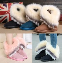 Winter Snow Boots Women Faux Fur Platform Boots Flat Warm Ankle Boots Round Toe Solid Comfortable Booties Ladies Shoes AEZLZ178