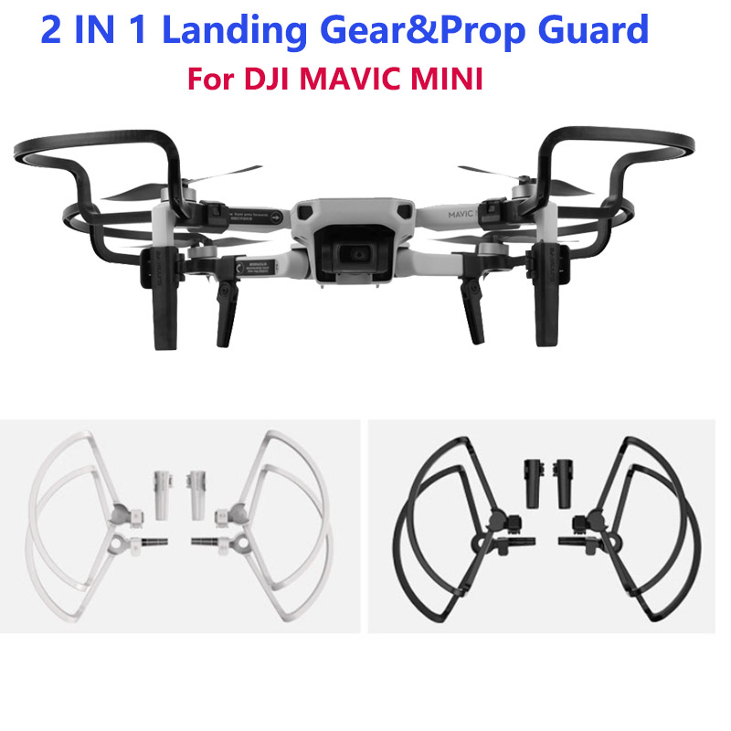 2IN 1 Propeller Guards with Landing Gears Propellers Shielding Rings Protectors for DJI Mavic Mini Drone Accessories