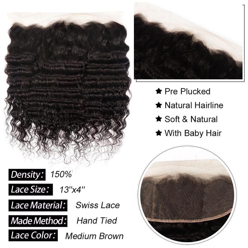 PromoteìShuangya Hair Loose Deep Wave Bundles With Frontal Brazilian Hair Weave Bundles With