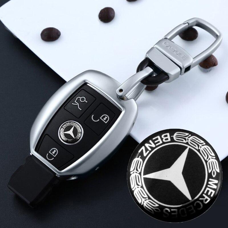 1 PCS 14mm Car Key Sticker Car Badge Emblem Sticker For Mercedes Benz W203 W210 W211 W204 C E S CLS CLK CLA SLK  Car Styling
