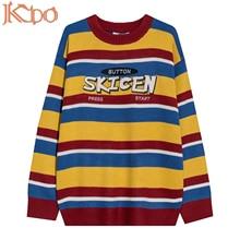Men Sweater Japanese Fashion Oversized O-Neck Long-Sleeve Streetwear Korean-Wool Winter