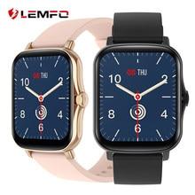 LEMFO Smartwatch 2021 de 1,7 pulgadas completamente táctil DIY reloj inteligente reloj de las mujeres de los hombres PK P8 más GTS 2 Fitness pulsera Android IOS