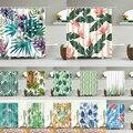 Африканские листья принты ванны занавески для душа водонепроницаемый экран для ванной комнаты украшение дома полиэстер ткань моющиеся зан...