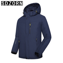 Mens Winter Two Pieces Jacket Hooded Parka 3 in 1 Jackets 2019 New Fall Coat