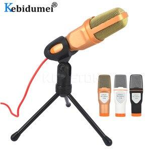 Image 2 - Kebidumei 3.5mm kablolu el mikrofonu ses stüdyo mikrofonu bilgisayar için mikrofon sohbet PC Laptop Skype MSN hediyeler
