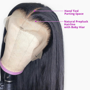 Image 3 - Nicelight Hair Straight Hair 360 Lace Frontal Wig Brazilian Remy Hair Wig Pre Plcuked Lace Closure Wig Lace Front Human Hair Wig