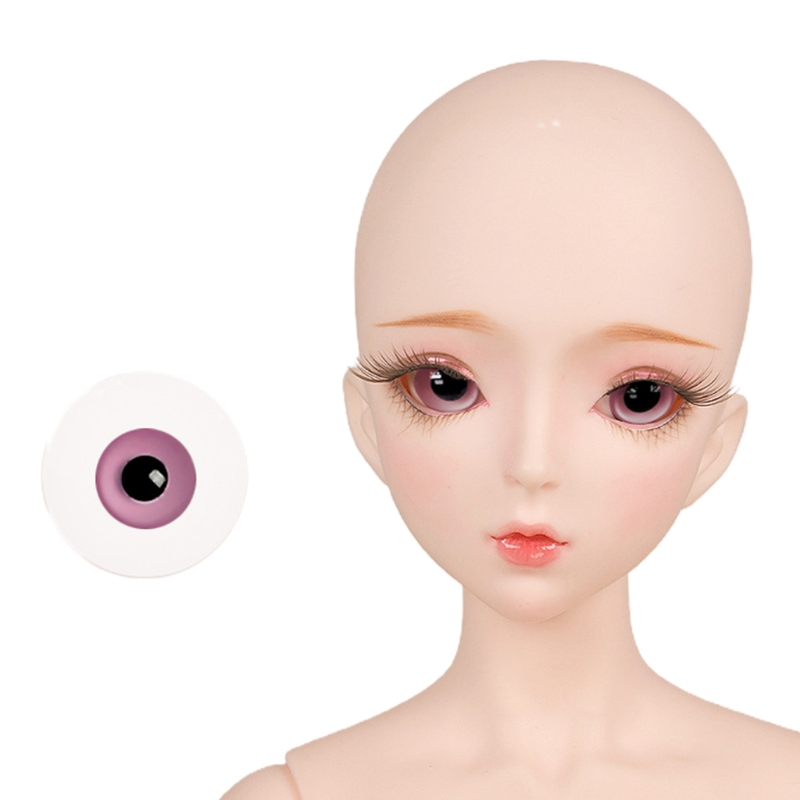 For Bjd Eyeball 14mm Glass Material Green Blue Eyes Suitable For 1/3 1/4 Doll Accessories 17
