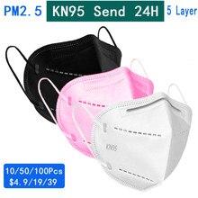 Máscara protetora do filtro da poeira da cara da boca do rosa kn95mask para o branco pm2.5 ffp3 máscara anti vírus de proteção máscaras dustproof da névoa