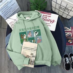 Image 3 - נים נשים סלעית עבה קטיפה חורף חם סטודנטים הסוודר ארוך שרוול חולצות Harajuku נשים Streetwear Oversize