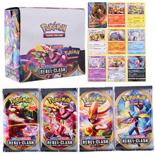 Lot de 324 cartes pokémon TCG, bouclier épée, Rebel crash Sun & Moon GX Team Up évolutions, boîte Booster, jeu de cartes à collectionner