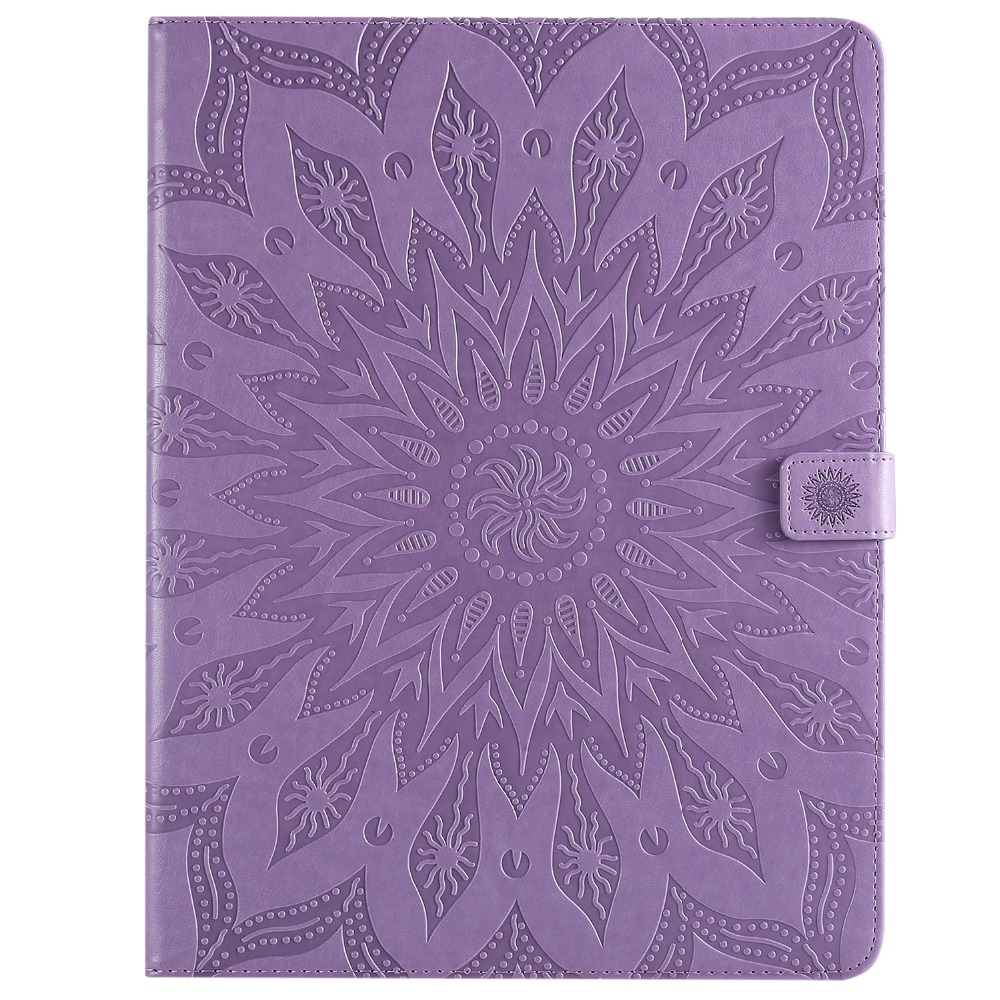 Leather Embossed for iPad 2020 Shell Flower Case Skin 3D Pro 9 Cover 12 Protective