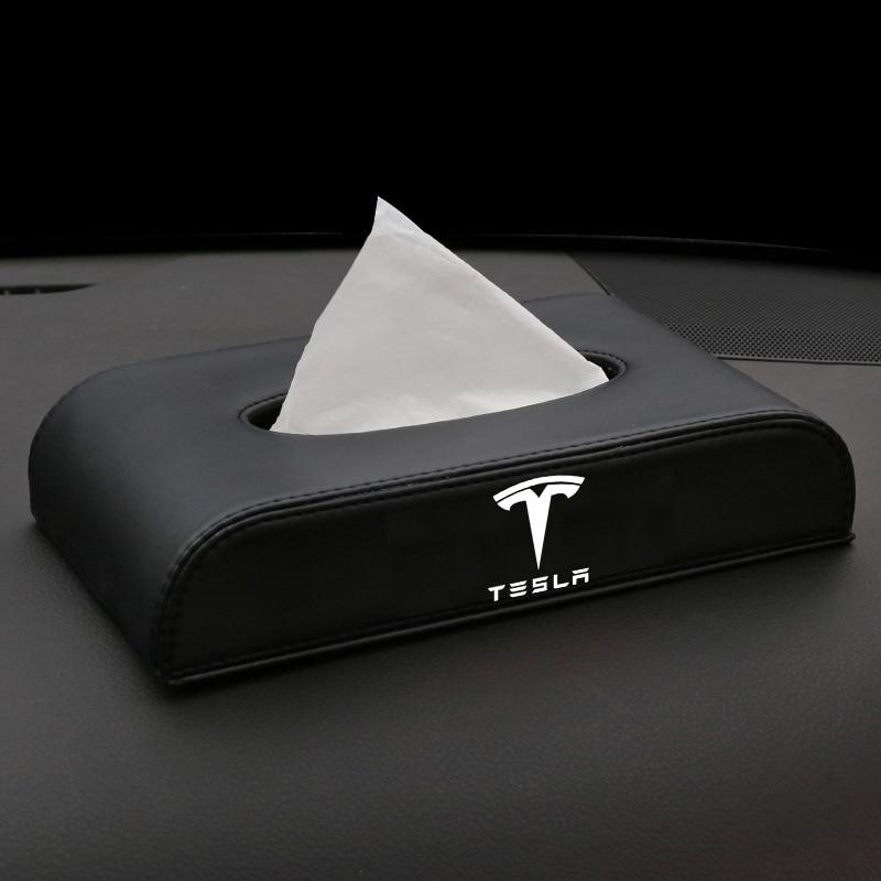 Heenvn 2021 New For Tesla Model 3 Model Y Paper Multifunctional Tissue Box Car Accessories Car For Model Three Tesla3 Interior
