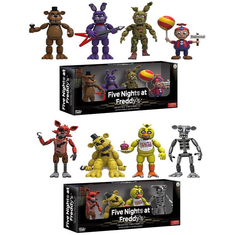 Набор игрушек «пять ночей у Фредди», экшн-фигурка FNAF, Бонни, Фокси, медведь Фредди фазбер, куклы из ПВХ, детские игрушки