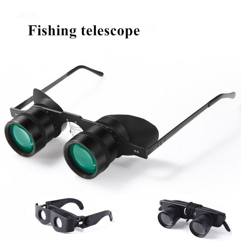 1 Pcs Vissen Bril 3X28 Vergrootglas Bril Stijl Outdoor Vissen Optics Verrekijker Telescoop Nieuwste
