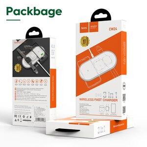 Image 5 - HOCO cargador inalámbrico 3 en 1 para iphone 11 Pro, X, XS, Max, XR, Apple Watch 5, 4, 3, 2, Airpods Pro, soporte de carga rápida para Samsung S20