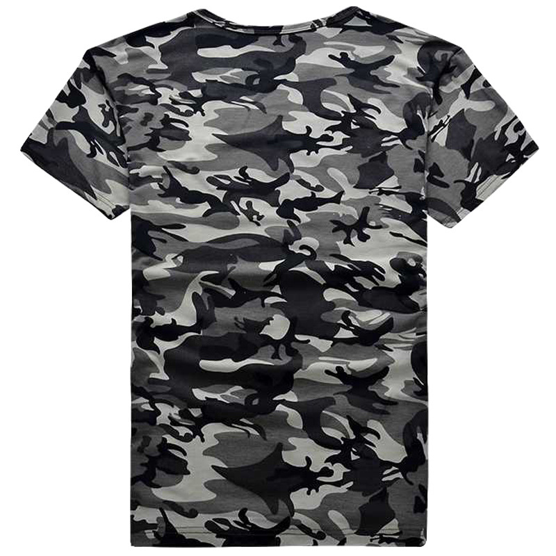 Military Uniform T-shirt Women's Sailor Dance Clothing Camouflage Crew Neck Square Dance Camouflage Short Sleeve Set New Style S